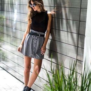 Dresses & Skirts - High Waist Button Front Plaid Mini Skirt